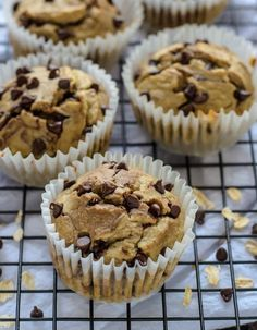 Blender Banana Oatmeal Muffins. NO butter, sugar, or oil. This skinny recipes uses Greek yogurt and honey instead. I can't believe how good these tasted!