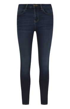 Mid Blue Power Stretch Skinny Jeans