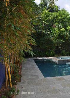 16x16 Walnut Tumbled Travertine Pavers · Travertine PaversPool BackyardPatioCourtyardsOutdoor  LivingSwimming