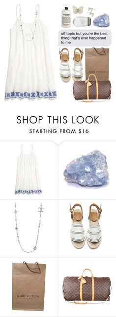 """""""🛳"""" by klaricca ❤ liked on Polyvore featuring Madewell, Chanel and Louis Vuitton"""
