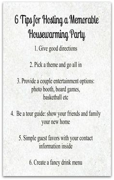 6 Tips for Hosting a Memorable Housewarming Party. for whenever i finally move out ! Open House Parties, Housewarming Party Invitations, Housewarming Party Decor, Shower Invitations, Invitations Online, Invitation Wording, Invitation Ideas, House Blessing, Up House