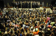 Brazils House of Representatives. 16/04/13. Indigenous protest against land rights amendment.