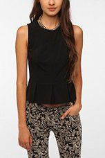 Kimchi Blue Structured Peplum Top- urban outfitters