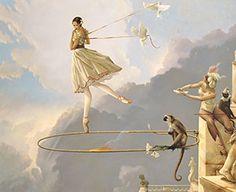 "Michael Parkes ""* Tuesday's Child Masterwork on Canvas"""