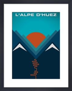 L'Alpe d'Huez Art Print by Jeremy Harnell | King & McGaw