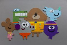 If you don't watch Hey Duggee I firstly entreat you to do so. Duggee will make your day better. He is the Harold Bishop of flash animated … Nursery Crafts, Baby Crafts, Toddler Crafts, Third Birthday, 3rd Birthday Parties, Birthday Party Decorations, Felt Bunting, Felt Ornaments Patterns, Felt Gifts