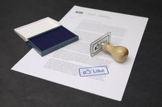 The Facebook Like Button Stamp by Nation #design #office