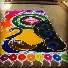 Rangoli Art in Pune. Rangoli Designs Simple Diwali, Best Rangoli Design, Small Rangoli Design, Rangoli Ideas, Diwali Rangoli, Rangoli Designs Images, Simple Rangoli, Mandala Design, Beautiful Mehndi Design