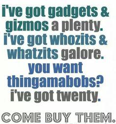 I've got gadgets and gizmos aplenty... Yard Sale Signs, Garage Sale Signs, For Sale Sign, Garage Sale Organization, Organizing, Rummage Sale, Sale Flyer, Up House, Store Displays