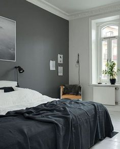 'Minimal Interior Design Inspiration' is a weekly showcase of some of the most perfectly minimal interior design examples that we've found around the web - all Minimalism Interior, Interior, Home, Home Bedroom, Bedroom Interior, Grey Walls, House Interior, Bedroom Wall, Interior Design