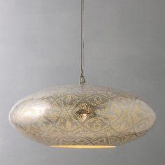 John-Lewis-Zenza-Filigrain-Oval-Pendant-Ceiling-Light-Rrp-255