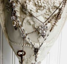 I have been working on some wonderful one of a kind assemblage necklaces. These necklaces are made up by re-purposing vintage jewelry. I al...