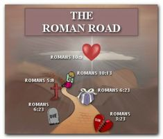 Travel down the Roman Road to salvation.