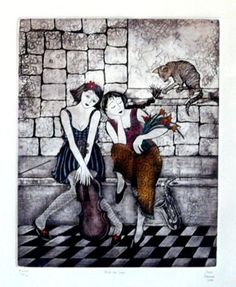 After the Show by Anine Barnard - South African Artist Fine Arts Degree, South African Artists, Online Art Gallery, Graphic Art, Art Things, Artworks, Passion, Painting, Illustrations