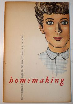 Your place to buy and sell all things handmade Shop Interiors, Betty Crocker, Homemaking, Just Love, Booklet, Illustration, Color, Etsy, Home Economics