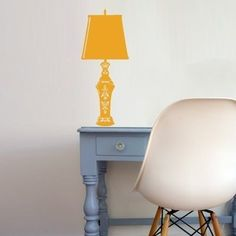 Lamp wall decal.