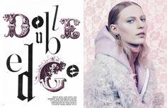 """Double Edge"" : Julia Nobis, Maria Bradley, + More : W July 2012 : Craig McDean"