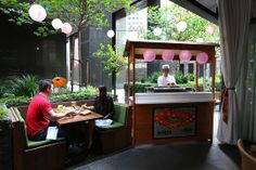 Chaya Downtown's beer garden - CHAYA DOWNTOWN