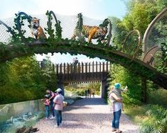 Studio Hansen Roberts creates jungle habitats for Auckland Zoo Architecture and design news The Zoo, Zoo Park, Zoo Decor, Tiger Habitat, Zoo Architecture, Zoo Project, Planet Coaster, Safari Theme, Parking Design