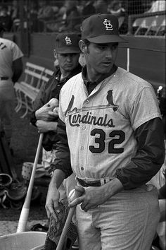 St. Louis Cardinals player Steve Carlton at spring training. 1969