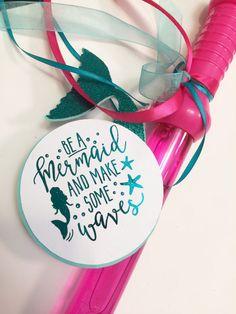 Mermaid Birthday Favor Tags Custom Mermaid by PaperedDelight
