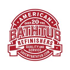 American Bathtub Refinishers on Behance Vintage Typography, Typography Logo, Typography Design, Lettering, Vintage Logos, Vintage Monogram, Monogram Logo, Furniture Logo, Cheap Furniture