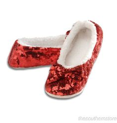 Baby Bling It On Red - Red Sequin Slippers