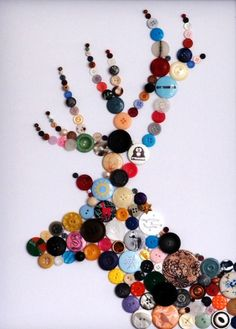 Wasn't sure what to do with all the leftover buttons from last summer's projects.  Might not be a reindeer tho...