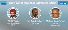 Get a chance to interact with the industry veterans - Mr. DP Singh, ED & CMO (Domestic), SBI MF | Mr. Kailash Kulkarni, CBO, L&T MF |  Mr. Sunil Subramaniam, Dy CEO, Sundaram AMC. You can join us via webinar tomorrow - http://thefundoo.com/ichange