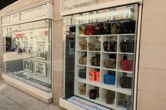 Fuji X Store in Fürth, Germany front window display of Billingham Bags really stands out! You can find your nearest retailer on our website. Bag Display, Near To You, Front Windows, West Midlands, Fuji, Germany, Retail, Website, Store