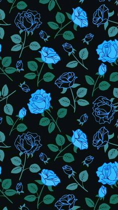 New wallpaper pattern blue floral prints Ideas Witchy Wallpaper, Goth Wallpaper, Blue Flower Wallpaper, Iphone Background Wallpaper, Halloween Wallpaper, Tumblr Wallpaper, Cellphone Wallpaper, New Wallpaper, Galaxy Wallpaper