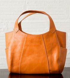 Michelle Leather Handbag | For those days when you'd prefer to not lug a couple of bags w... | Handbags