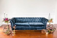 Here are 11 unexpected wedding details that marry (yep, I went there) the world of interior design with weddings. #wedding #weddings #weddingdecor #weddingtrends Soft Seating, Lounge Seating, Lounge Areas, Wedding Lounge, Loft Wedding, Wedding Seating, Wedding Groom, Rustic Wedding, Blue Tufted Sofa