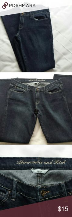 Abercrombie & Fitch stretch denim jeans dark wash Abercrombie & Fitch dark wash denim skinny stretch jeans size 8. In good condition-no rips, no stains, no smells. No trades. I will consider reasonable offers. Abercrombie & Fitch Jeans Skinny