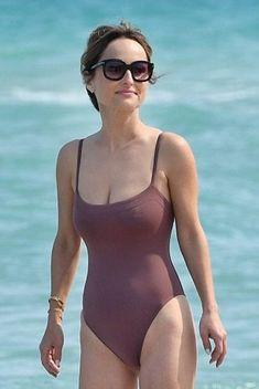 Giada De Laurentiis Wearing a Swimsuit On Miami Beach One Piece Swimwear, Bikini Swimwear, Swimsuits, Lingerie Shoot, Hot Lingerie, Giada De Laurentiis, Female Actresses, Beach Bunny, Hot Brunette