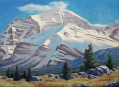 Mount Temple by Rod McAuley Oil ~ 9 x 12