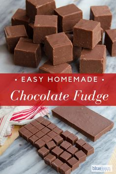 Basic Chocolate Fudge Homemade gifts are from the heart! This Chocolate Fudge recipe will make a gre Vanilla Fudge, Salted Caramel Fudge, Easy Chocolate Fudge, Homemade Chocolate, Chocolate Recipes, Peanut Butter Chocolate Fudge, Oreo Fudge, Homemade Fudge, Homemade Candies