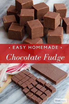 Basic Chocolate Fudge Homemade gifts are from the heart! This Chocolate Fudge recipe will make a gre Easy Chocolate Fudge, Homemade Chocolate, Chocolate Recipes, Chocolate Chocolate, Homemade Fudge, Homemade Candies, Homemade Gifts, Homemade Recipe, Homemade Desserts