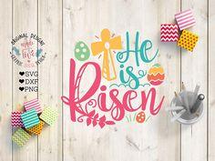 He is Risen SVG He is Risen Cut File in SVG DXF png, Easter Jesus SVG, Easter Kids t-shirt design.