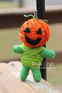 Doodle Craft...: Make Your Own String Voodoo Dolls!  I don't think I'd call them Voodoo Dolls if we did them for a class party! LOL