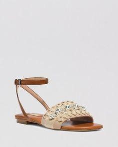 8ea33532f90b7 Michael Kors Flat Sandals - Hadden Embellished