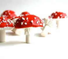 Chocolate Filled Candy Toadstools Red  by andiespecialtysweets on Etsy.