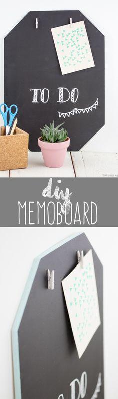 DIY Memoboard mit Tafellack - Tafelfarbe Wand selbermachen Schultafellack Rust Oleum