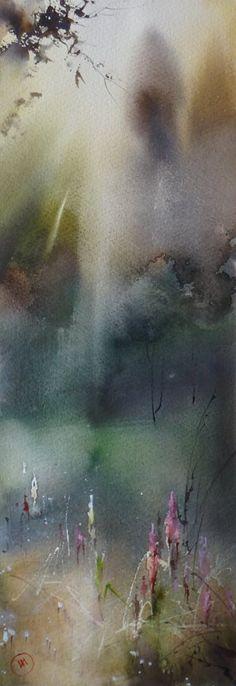 Ilya Ibryaev  ..... Когда цветёт ИВАН -ЧАЙ - ( When in bloom IVAN - tea ) - watercolor 53 x 18 cm