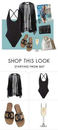 """""""sea godess"""" by gosharubhoe ❤ liked on Polyvore featuring Anna & Boy, Proenza Schouler, Chanel, BarLuxe, CÉLINE, celine, vogue and proenzaschouler"""
