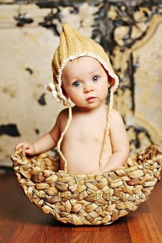 A pixie in a basket by JustLinnea
