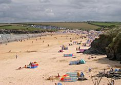 Good Beach Guide Recommended Considered one of the best family beaches in Cornwall, Harlyn Bay is a wide and spacious beach of yellow sand and pebbles with plenty of interesting rock pools backed by dunes Best Family Beaches, Holidays In Cornwall, Rock Pools, North Coast, Beach Mat, Dolores Park, Outdoor Blanket, Places, Summer