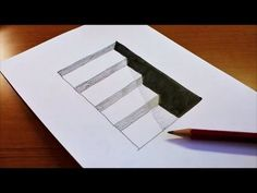 Very Easy! How To Draw Hole & Stairs for Kids – Anamorphic Illusion – Trick Art on paper – Drawing Ideas and Tutorials Optical Illusion Drawing, Easy Drawings, Anamorphic, Art Tips, 3d Art Drawing, Youtube Art, 3d Drawings, Watercolor Paintings Easy, How To Draw Stairs