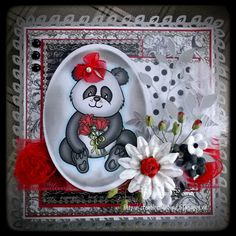 Handmade Cards (Scrapbooking) - Beary Wishes - Panda Bear