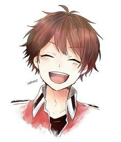 Description because you are happy Cool Anime Guys, Handsome Anime Guys, Cute Anime Boy, Anime Love, Boy Drawing, Manga Drawing, Anime Boy Smile, Anime Boy Hair, Anime Boy Sketch